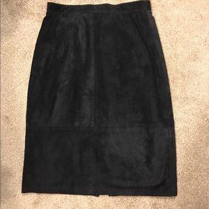 Dresses & Skirts - NWOT Black Suede Skirt